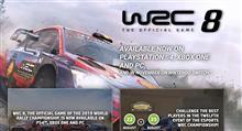 WRC7の後継のWRC8がリリース,PS4,ラリーゲーム
