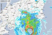 台風15号 上陸(汗)