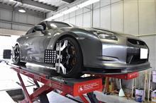 R35 GT-R アライメントチェック(^_-)-☆
