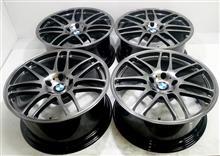 BMW純正19インチ/パウダーコートベースの溶剤ハイパー塗装DBK(黒薄目)再塗装リフレッシュ
