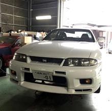スカイライン GT-R BCNR33ミッションメンバーカラーに交換したよ♪