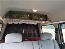 あとはサイドカーテンのみ… 100均パーツで天井棚制作