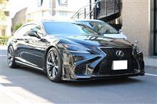 レクサス 新型LS レクソン ロアリンクにてローダウン☆KSP LS500  LS500h Fスポーツ エアサス サスコン