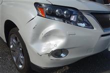 【トヨタ レクサス RX450h 右前部事故 キズ&へこみ板金・塗装・修理(車両保険+ご実費)】 東京都東村山市よりご来店のお客様です