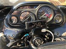 バイクに装着した電波時計の誤作動を調べる