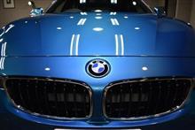 カメラでは表現できない色艶!BMW 420i グランクーペ Msportのガラスコーティング作業