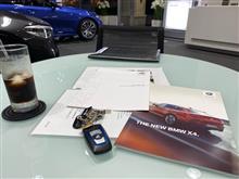 BMW X4を試乗させて頂きました。
