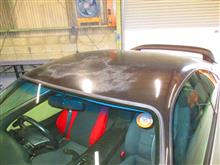 MR2 クリアーハゲ 塗膜剥離 ボンネット ルーフ 安塗り塗装 磨き 愛知県豊田市 倉地塗装 KRC