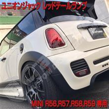 MINI R56ユニオンジャックテールランプ 白いボディにレッドテール