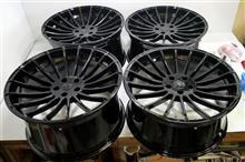 ハーマン22インチ鋳造ホイール/パウダーグロスブラックパウダーアクリルクリアー