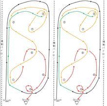 バトルジムカーナ2019 Rd.4のコース図