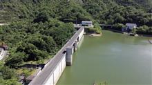 台ダム(うてなだむ)しまなみ海道【空撮】愛媛県,大三島