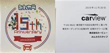 みんから15周年愛車愛投稿プレゼント当選!