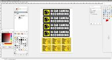 Car security sticker