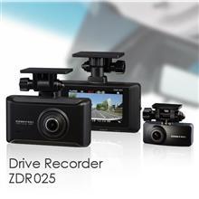 前後2カメラ 日本製ドライブレコーダー ZDR025 発売