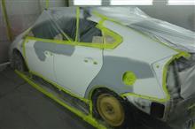 【トヨタ プリウス 左側面事故 キズ&へこみ板金・塗装・修理(対物保険)】東京都多摩市よりご来店のお客様です