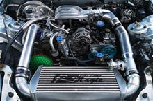 エンジンオーバーホール&シングルタービン化&インタークーラー配管ワンオフ製作