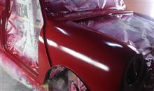 ラッカー塗装 その3 tartan red