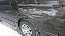 【トヨタ ハイエース 左側面事故 キズ&へこみ板金・塗装・修理】東京都三鷹市よりご来店のお客様です