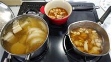 下拵え完了(^^)v   #料理 #三浦大根 #豚バラと大根 #お雑煮 #親子丼
