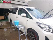 2020年 初洗車は、艶MAX-アルファード