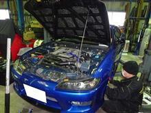 S15シルビア 車高調取付け&タイヤ組み替え2020年1月5日、6日
