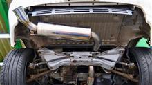 交換、かなりタイヘンでしたが楽しいクルマですね〜 MR2、吸排気系作業です。