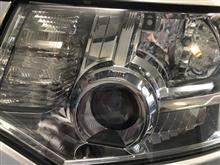 デリカ ヘッドライト磨き ヘッドライトキズ 黄ばみ 焼け クリアハゲ 愛知県豊田市 倉地塗装 KRC