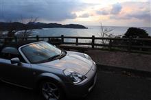 日本海と微妙な夕日