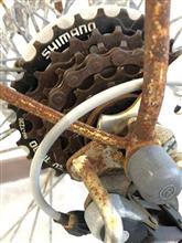 会社の自転車の整備
