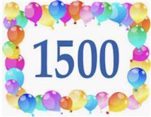 1500!!