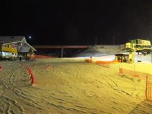 19-20 スキーNo.24 やっとホームゲレンデがナイター営業開始 今夜もプルークボーゲンおかわり