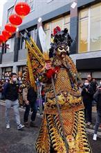 中華街で食事の後は2020春節(祝舞遊行)♪