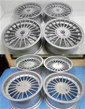 アルピナ16&17インチ1Ps鋳造(CAST)パウダーシルバー/パウダーアクリルクリアーフルパウダーコート