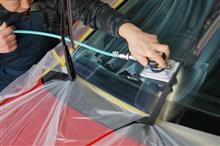 強力ガラス撥水の作業を終え薬剤の反応中に^^