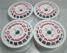 OZラリーレーシング14インチ/パウダーホワイト赤ロゴシール抑え&ロゴフォントの違い