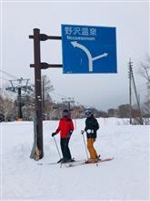 野沢温泉でトレーラー泊スキー