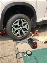 普通タイヤに交換