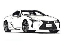 Lexus LC500のイラスト絵