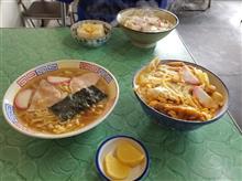 豊田市街のレトロ食堂にてカツ丼とラーメンを愉しむ