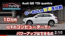 【Q5 40 TDIクワトロ LDA-FYDETS TDI Tuningディーゼル車用サブコン】Tuning BOXインプレ頂きました!