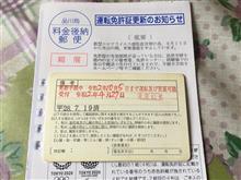 ▼【免許更新】有効期限の延長手続き