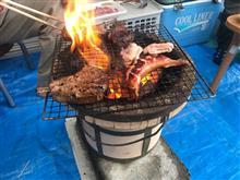 焼く肉開始♪( ´▽`)