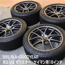 BBS RI-A 18インチ タイヤ&ホイール中古4本セット ポルシェ ケイマン、ボクスター用