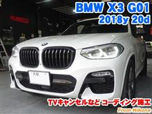 BMW X3(G01) TVキャンセルなどコーディング施工