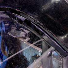 【ビート】ハードトップのドラッグ低減用 整流・三角棒を塗装