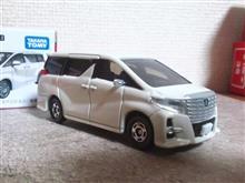 トミカ No.12 トヨタ アルファード ミラー取付。