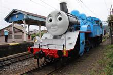 (新金谷駅) トーマスを見る。