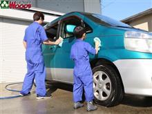 お子様と洗車! 車好きにはたまらんですよね!?