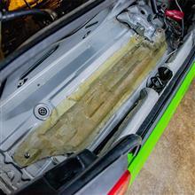 【ビート】【軽量化】トランク底切断+FRPトランク底蓋 製作